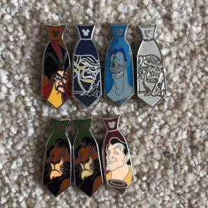 Villain Tie Disney Trader Pins